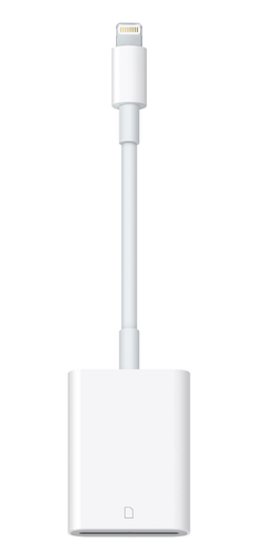 apple lightning to sd card reader camera